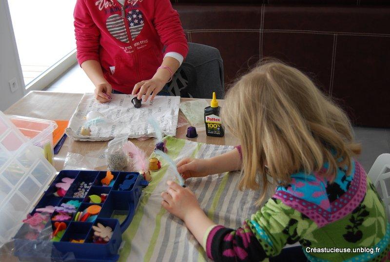 D co de p ques r alis e avec les enfants la cr ation - Bricolage avec recuperation ...