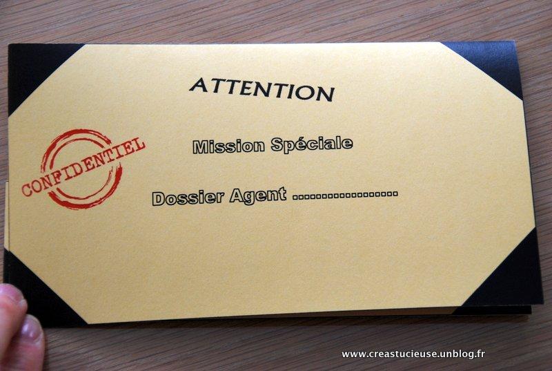 Connu Invitation anniversaire « agents secrets » » Creastucieuse QF65