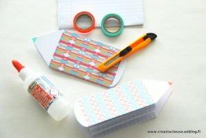 Carnet DIY en papier recyclé avec Gabarit gratuit #Creastucieuse